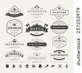 retro vintage insignias or... | Shutterstock .eps vector #257253979