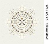 restaurant shop design element... | Shutterstock .eps vector #257254426