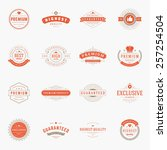 retro vintage premium quality... | Shutterstock .eps vector #257254504