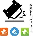 car crash icon | Shutterstock .eps vector #257257843