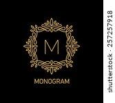 monogram logo design. vector... | Shutterstock .eps vector #257257918