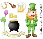 st. patrick's day icons set | Shutterstock .eps vector #257260078