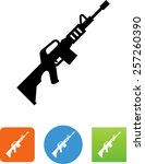 ar15 rifle icon | Shutterstock .eps vector #257260390
