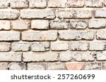grunge dirty old brick wall... | Shutterstock . vector #257260699