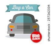 sale car  vector illustration   Shutterstock .eps vector #257262334