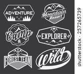 set of vintage labels mountain... | Shutterstock .eps vector #257265739