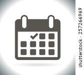 calendar flat icon   vector   Shutterstock .eps vector #257266969