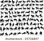 100 vector silhouettes of...   Shutterstock . vector #25726847