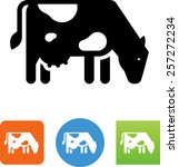 dairy cow icon | Shutterstock .eps vector #257272234