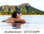 Infinity Pool Resort Woman...