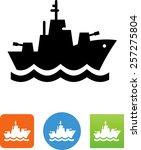 navy ship icon   Shutterstock .eps vector #257275804