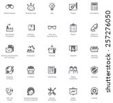 simple linear vector icon set... | Shutterstock .eps vector #257276050