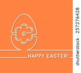 happy easter greeting card with ...   Shutterstock .eps vector #257276428