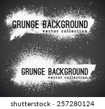 set of  ink vector stains   Shutterstock .eps vector #257280124