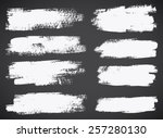 set of  ink vector stains | Shutterstock .eps vector #257280130