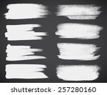 set of  ink vector stains   Shutterstock .eps vector #257280160