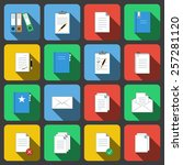 vector set of colored icons in...