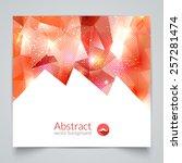abstract triangular 3d... | Shutterstock .eps vector #257281474