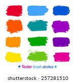 grunge colorful watercolor... | Shutterstock .eps vector #257281510
