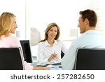 at the bank | Shutterstock . vector #257282650