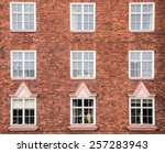 Old Red Brick Wall With Window...