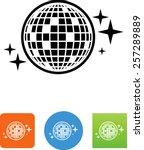 disco   mirror ball icon | Shutterstock .eps vector #257289889