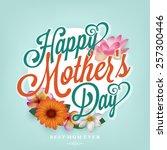 happy mother's day...   Shutterstock .eps vector #257300446
