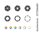 camera focus objective icon | Shutterstock .eps vector #257306680