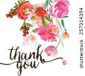 Flower Thank Card