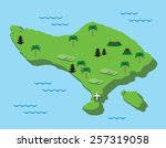 bali map  flat design. eps10. | Shutterstock .eps vector #257319058