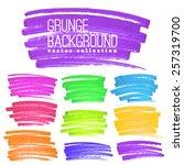 bright rainbow colors vector... | Shutterstock .eps vector #257319700