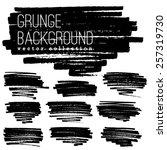grunge marker stains | Shutterstock .eps vector #257319730