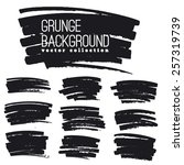 grunge marker stains | Shutterstock .eps vector #257319739