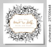 wedding invitation cards with... | Shutterstock .eps vector #257330668