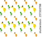 cute dinosaur pattern  for baby ... | Shutterstock .eps vector #257333788