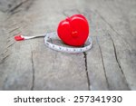 red cartridges meters with... | Shutterstock . vector #257341930