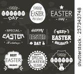 easter icon logo vector | Shutterstock .eps vector #257343748