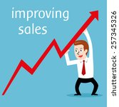 improving sales  vector... | Shutterstock .eps vector #257345326