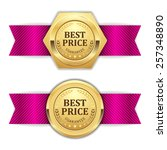 Two Gold Best Price Badge With...