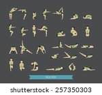 set of yoga poses   eps10... | Shutterstock .eps vector #257350303