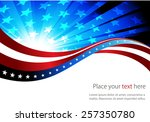 abstract image of the american... | Shutterstock .eps vector #257350780