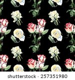 seamless pattern from roses.... | Shutterstock . vector #257351980