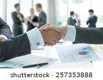 business handshake | Shutterstock . vector #257353888