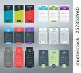 set of vector pricing table in... | Shutterstock .eps vector #257353960