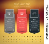 vector pricing table in flat... | Shutterstock .eps vector #257353963