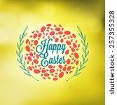 happy easter day vintage... | Shutterstock .eps vector #257355328