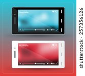 modern smartphone with video...