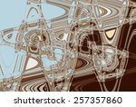 colorful psychedelic background ... | Shutterstock . vector #257357860