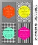 vector set of abstract brochure ...   Shutterstock .eps vector #257365873
