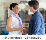 two young professionals ... | Shutterstock . vector #257366290